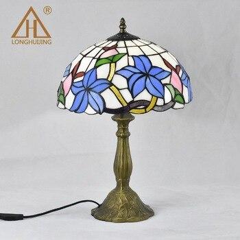 הים התיכון רטרו סגנון זכוכית תורכי פסיפס שולחן מנורות Handworked מחקר חדר שינה בית אמנות דקור תורכי מנורה