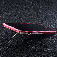 Luxury Diamond Shape Aluminum Metal Stand Holder Bumper Case For IPhone 7 7 Plus Original Cell