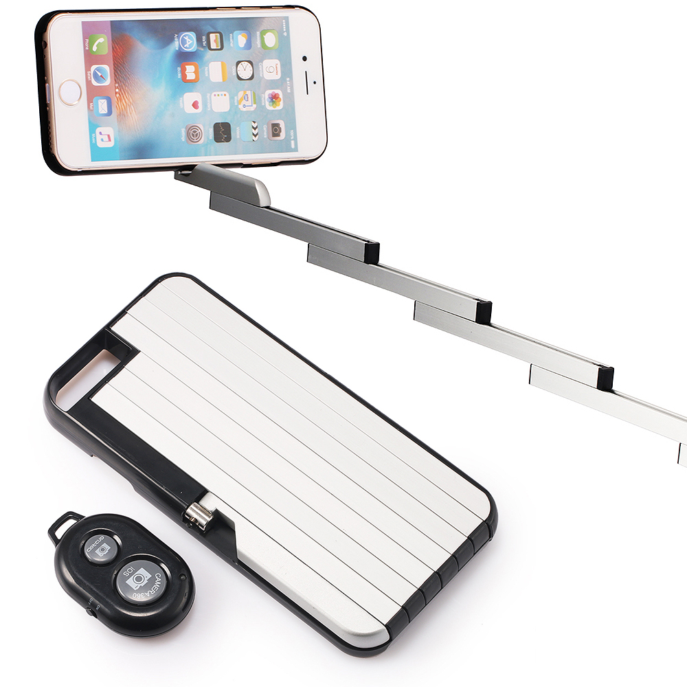 remote selfie stick case for iphone 6 6s plus extendable aluminum stick pull 3 in 1 light weight. Black Bedroom Furniture Sets. Home Design Ideas