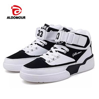 ALDOMOUR 2018 men and women skateboard shoes comfortable light sports shoes leisure trend high 38 45 size XXX
