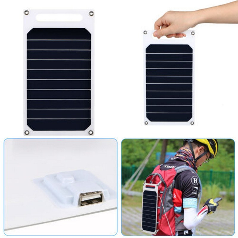 Solar Charger USB 10W Solar Panel 5V Climbing Phone Charger Outdoor Durable Flexible Fast Charger Travel Panel Solar Cell diy 5v 2a voltage regulator junction box solar panel charger special kit