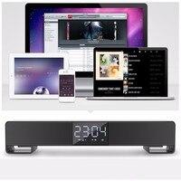 LP C17 Desk Cloc Bluetooth Sound Bar Speaker Dual Loudspeaker Alarm Clock Handsfree Call AUX