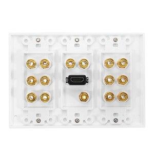Image 3 - Alluminio Home Theater 7.1 Surround Sound Speaker cassa di Risonanza Piastra A Muro HDMI Audio A Banana