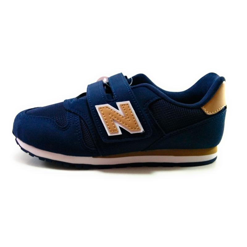 Nuovo 373-Child scarpe beige navy retro marcia sintetica Tessili Per La durevolezza e traspirazione SPORT