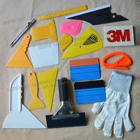 EHDIS 18pcs Vinyl Film Car Wrap Tool Kit 3M Carbon Fiber Squeegee Snow Scraper Knife Cutter Blade Window Tints Sticker Tool Set