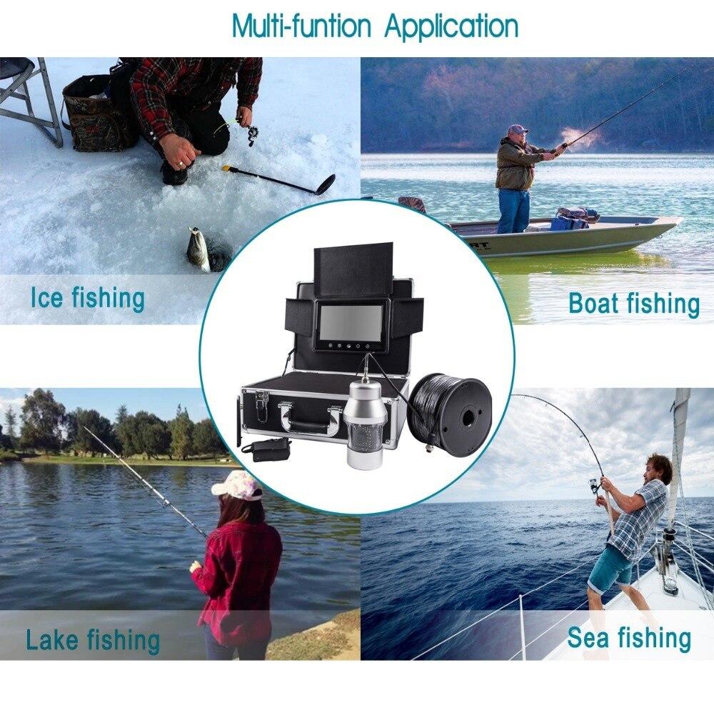 """SYANSPAN Беспроводной Wi-Fi рыболокатор """" ЖК-монитор видео камера 1000TVL подводный ледовый рыболокатор 36 светодиодов вращающийся на 360 градусов"""
