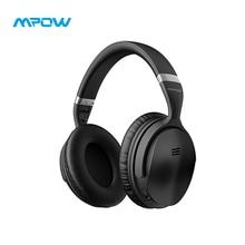 Mpow H5 активный Шум шумоподавления наушники Hi-Fi стерео удобные уха 18 ч складной Беспроводной гарнитура с микрофоном и сумкой для переноски