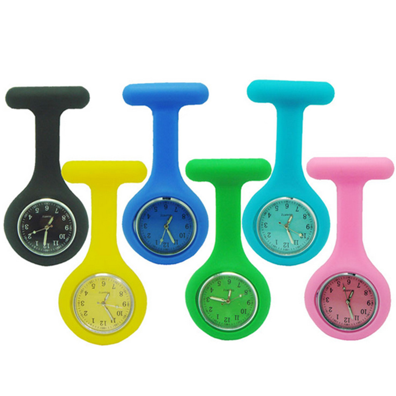 Wholesale High Quality Brand New Nurse Watches Silicone Pocket Fob Brooch Nurses Watch Tunic Batteries Medical Quartz Watch fashion colorful silicone nurses brooch fob pocket quartz watch 12 styles pendant round portable medical nurse doctor watches
