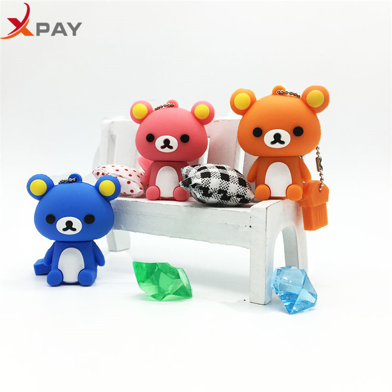 Image 2 - New style USB Flash Drive Lovely Cartoon Bear Pen Drive 64GB 128GB Pendrive Storage real capacity 4GB 8GB 16GB 32GB free shippin-in USB Flash Drives from Computer & Office