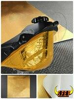 Gold Reflective Adhesive Heat Shield Material For BMW Kawasaki Yamaha Honda Suzuki KTM Ducati Triumph Aprilia MV Agusta Guzzi