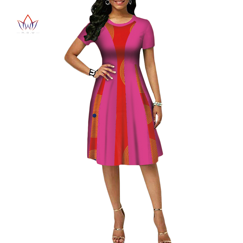 Summer Africa Fashion Dress For Women Dresses Bazin Riche Wax Print Fabric Party Dresses Sexy Strapless Dress For Girls WY4076