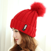 2017 Hot Sale New Letter Casual Unisex Ladies Winter Hat Children Leisure All-match Ear Warm Korean Sleeve Head Baotou Knitted
