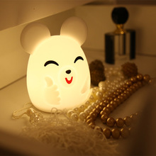 7 Colors Changed Cartoon Cute Mouse Light Soft Table Lamp Home Decor for Kids Touch Control holiday birthday gift Night light