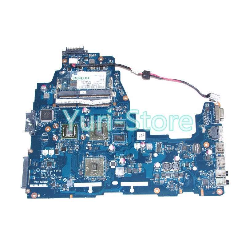 NOKOTION PWWBE LA-6846P Laptop for toshiba satellite C660 C660D Rev 2.0 MB K000124450 EME250 CPU onboard DDR3 h000079530 main board for toshiba ca10an ab laptop motherboard ca10an ab uma mb rev 2 1 ddr3 with cpu onboard