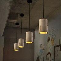 Современная Nordic цемента люстра Лофт Стиль деко подвесной светильник ресторан Кофе магазин Винтаж свет личность Книги по искусству деко Осв