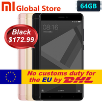 Original Xiaomi Redmi Note 4X 4GB 64GB Redmi Note 4 X Pro Prime Mobile Phone MTK Helio X20 Deca Core 5.5