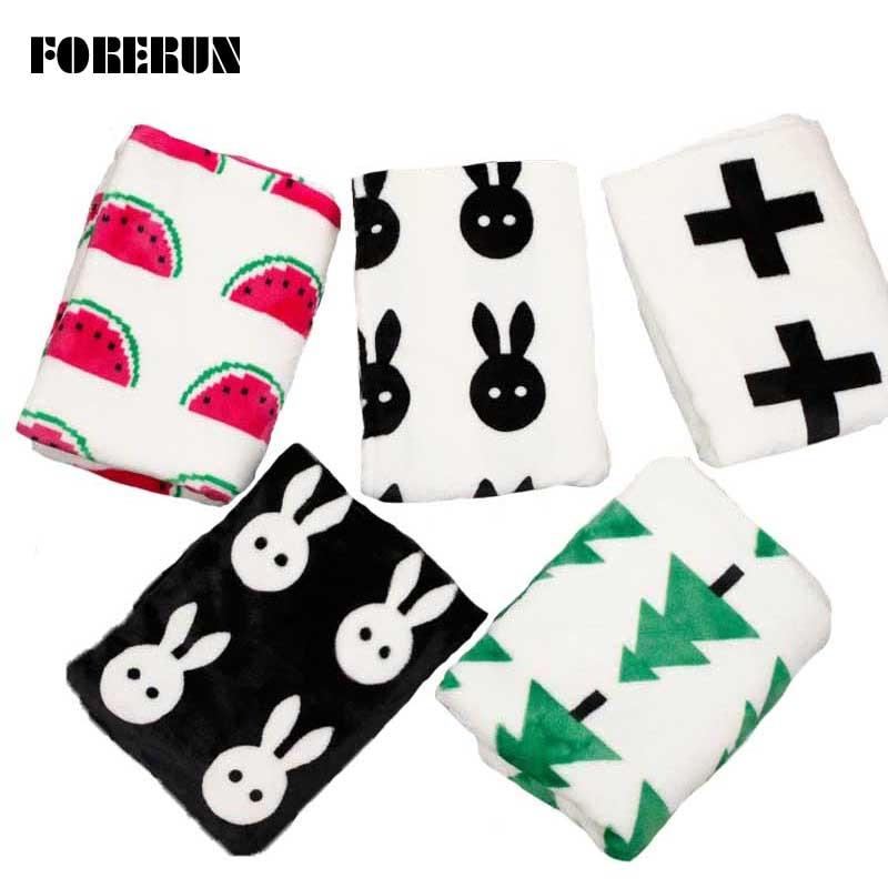 New Flannel Baby Blankets Newborn Cross Black White Blanket Cartoon Bath Towels Soft Toddler Swaddle Wrap <font><b>Sleeping</b></font> Bag 115*85cm