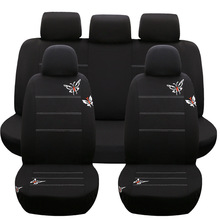 Car Seat Covers airbag White butterfly Universal Fit Front Rear Seat Full Cover Interior Accessories New for kia vaz fiat palio car seat covers leather full cover universal for front rear seat interior accessories for renault logan kia fiat honda lada
