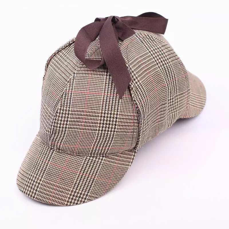 765a5895e51e9 ... BUTTERMERE Sherlock Men Cap With Ear Flaps Women Sherlock Holmes Hat  Deerstalker Wool Tweed Cap Herringbone ...