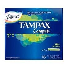 TAMPAX Compak Тампоны женские гигиенические с аппликатором Super Duo 16 шт.