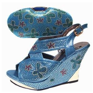 Image 2 - Chaussures et sacs italiens de couleur argentée pour assortir les chaussures avec lensemble de sacs ventes chez les femmes chaussures assorties et ensemble de sacs sac de chaussures de haute qualité