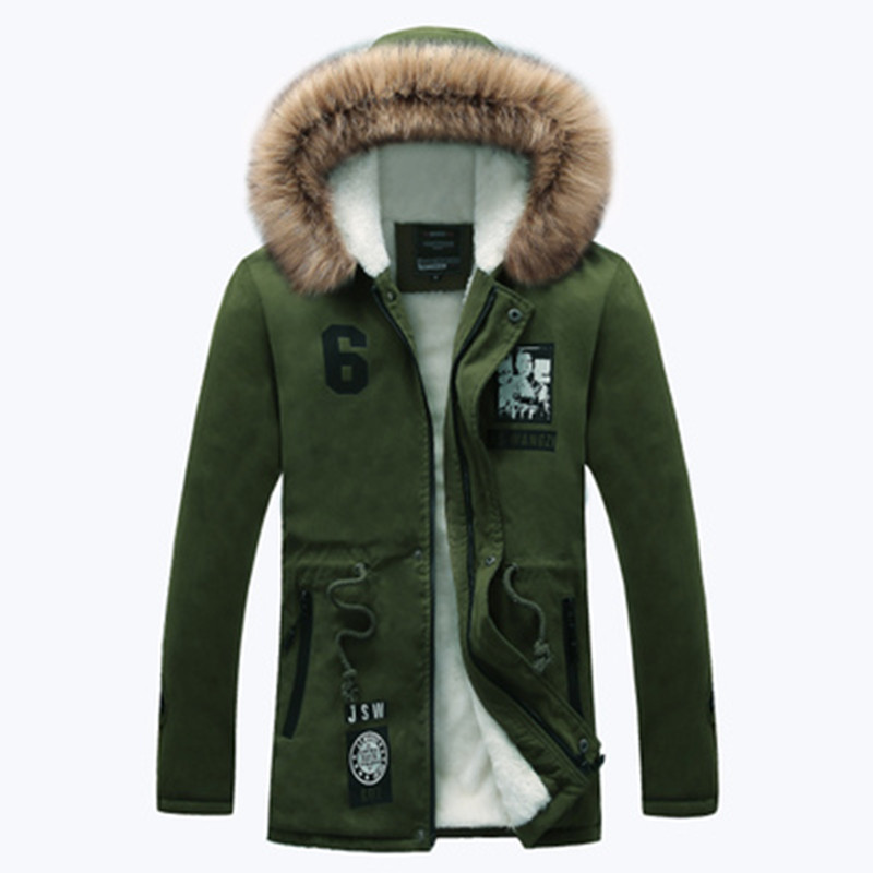 Fashion Fur Liner Jacket   Parkas   Men 2018 Winter Thick Warm Men's Jacket and Coats Casual Hooded Coat Outwears Lovers Clothing
