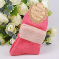 5-Color Autumn And Winter Rabbit Wool Cotton Socks Solid Color Thickening Flanging Cuffs Female Lady Girls Socks Free Shipping
