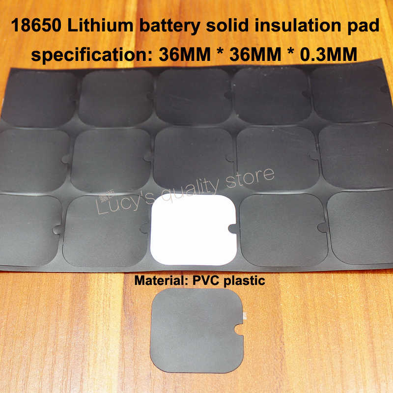 50pcs/lot 18650 Lithium Battery High Temperature Insulation Pad 2s Insulating Universal Surface