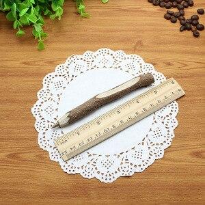 Image 5 - 36pc/lot Environmental protection wooden ball point pen / nature branch pencil / bark pen / degradable pen