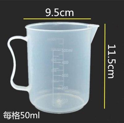 500ml 250ml Průhledná nádobka na odměrku Plastová odměrka Měřicí nástroje pro pečení kuchyňských nástrojů