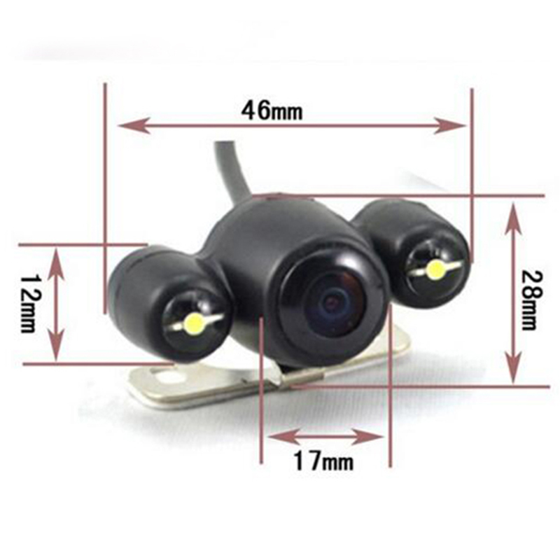 Wide Angle Night Vision Car Rearview Camera for Mirror Monitor 2 LED Auto Reverse Backup Rear View Camera for GPS Navigation Dvr
