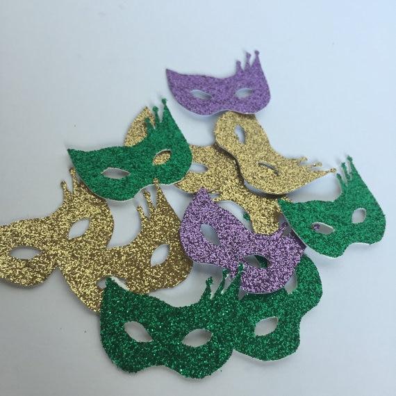Mardi Gras Wedding Ideas: Glitter Masquerade Carnival Party. Mardi Gras Theme
