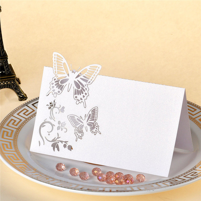 Aliexpress Buy 12pcs White Laser Cut Butterfly Souvenirs – Wedding Butterfly Invitations