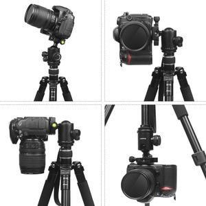 Image 4 - تبادل لاطلاق النار المهنية المحمولة السفر كاميرا ترايبود سبائك الألومنيوم 4 أقسام حامل ثلاثي القوائم لكانون نيكون SLR DSLR كاميرا رقمية