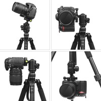 portable aluminum SHOOT Professional Portable Travel Camera Tripod Aluminum Alloy 4-Sections Tripod Stand for Canon Nikon SLR DSLR Digital Camera (3)