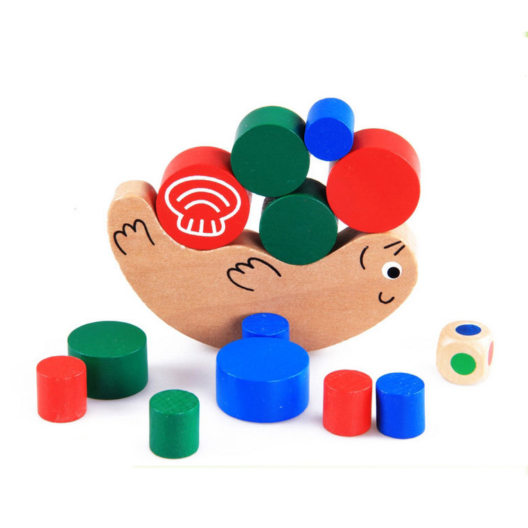 Baby Learning Educational Wooden Toys Blocks Jenga Balance Sea Otter Domino Geometric Shape Enlightenment Kids Gifts 4168 hatsune miku winter plush doll