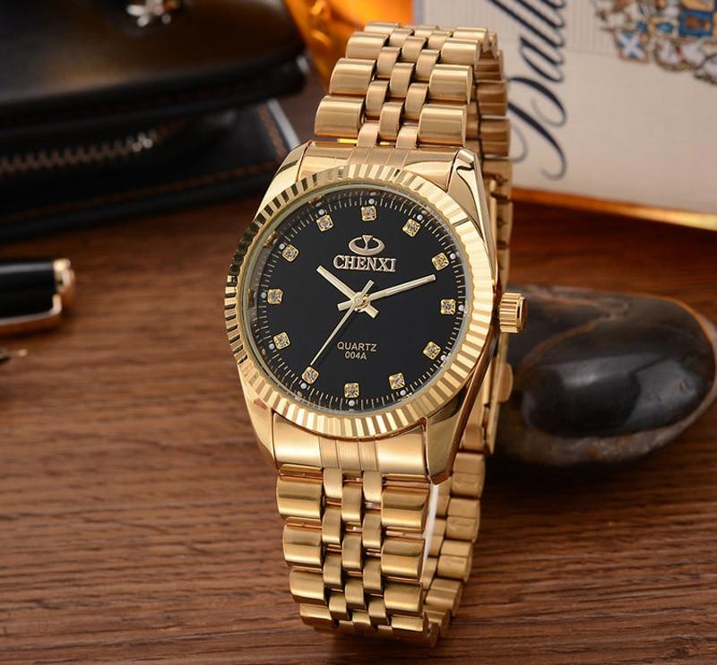 Relogio Masculino Top Brand Chenxi Watch Luxury Men Waches Gold Watches Men Stainless Steel Analog Quartz Wristwatch Men Watch