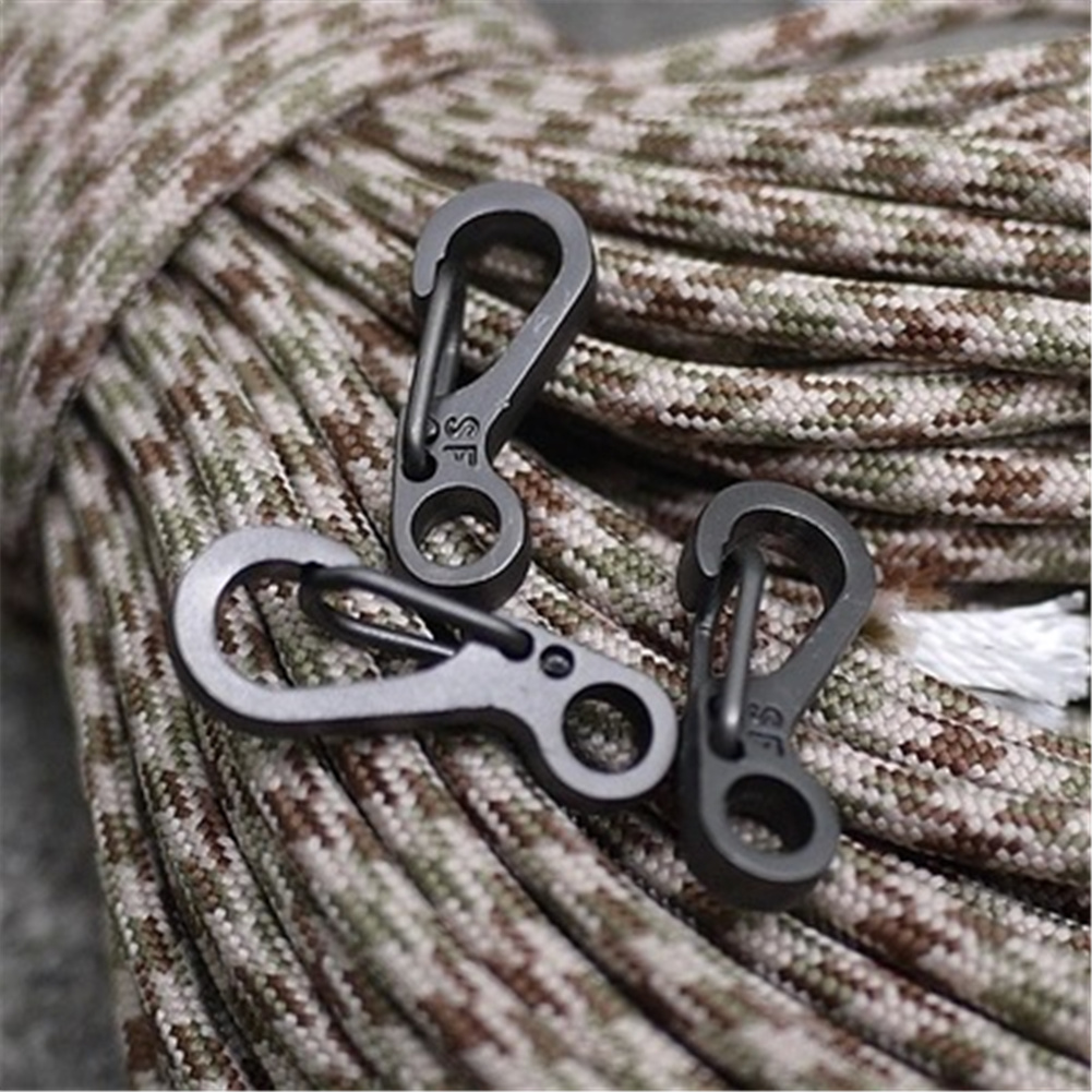 EDC Mini Metal Key Buckle Snap Spring Clip Hook Carabiner Tool Keychain Out H4D9