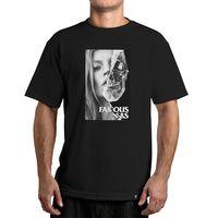 2018 di Modo Famous Stars & Straps di Kate Modello di Cranio Faccia T-Shirt Stampa Grafica Tee uomo Casual Camicia A Maniche Corte Tee