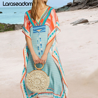 Beach Swimsuit cover up Beach Tunic Sarong Robe de Plage Beachwear kaftans long Beach Dress Womens Swim Wear#Z211