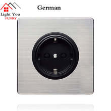 German socket panel Black round European standard German socket power wall concealed European standard socket стоимость