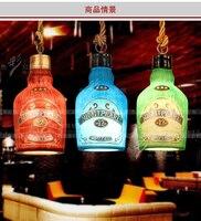 Модные Винтажные бутылки вина подвеска светильников подвесные светильники Lamparas персонализированные бар украшения лампа