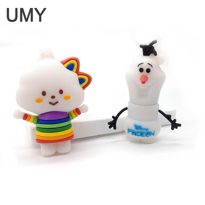 Snowman usb flash drive 4G 8G 16G 32G pen drive white clouds usb2.0 pendrive memory card usb stick 100% real capacity цена