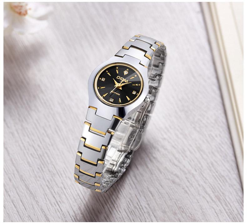 Hk dom luksusowe top marka męska zegarek wolframu stal wrist watch wodoodporna biznesu kwarcowy zegarek fashion casual sport watch 18
