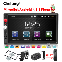"2 Din Auto Radio Mirrorlink Bluetooth 2din Car Multimedia Player 7 ""HD Touch Autoradio MP5 USB Audio Stereo Con videocamera vista posteriore"