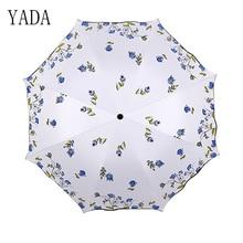 YADA Lace NEW Flower High Quality Umbrella Rain Women uv Sunny & Rainy Car For Womens Windproof Folding Umbrellas YS146
