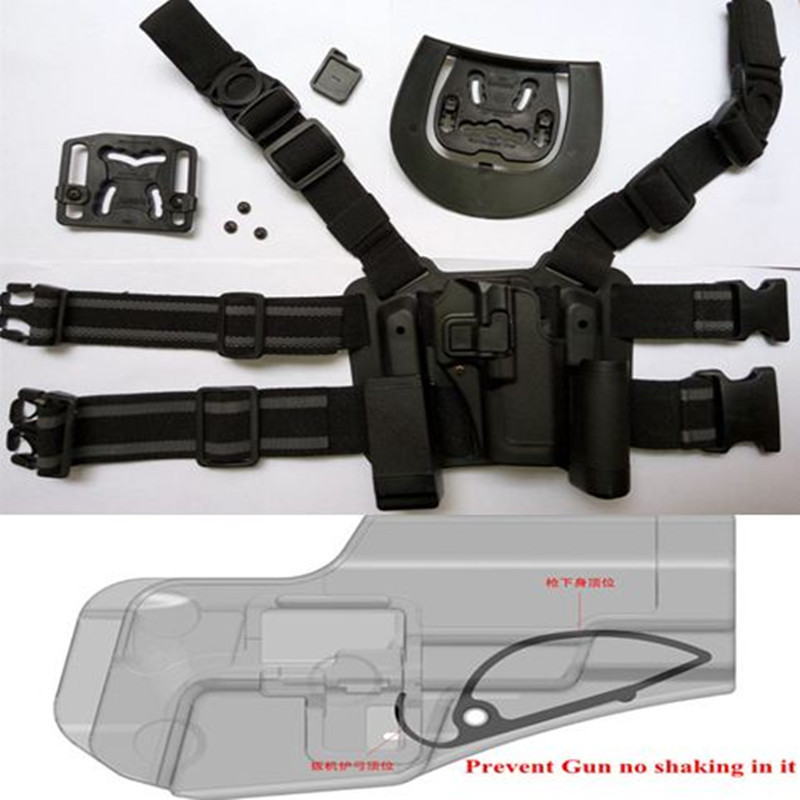 Tactical For GLOCK 17 19 22 23 31 32 Airsoft Drop Leg Right hand holster W