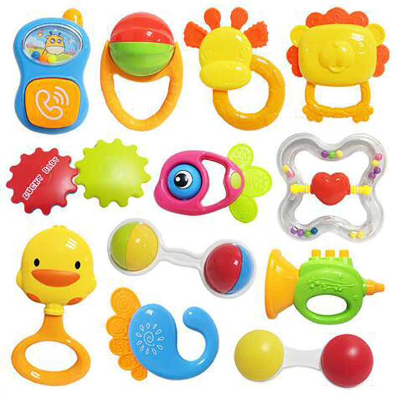 Infant Baby Rattles Mobiles Teether Toys Infant Music Lovely Hand Shake Bell Ring Bed Crib Newborn Educational Toy