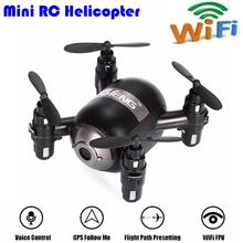 T906W Mini RC Helicopter 4CH 6 Axis Gyro RC Quadcopter Controlled By Phone Follow Me Radio Control WiFi FPV One Key Taking Off