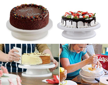 WALFOS Cake Decorating Tools Cake Stand Turntables Decorating Stand Platform Cupcake Stand Cake Swivel Plates Tools